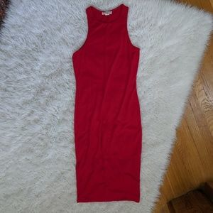 Forever 21 Red Jersey Bodycon Dress